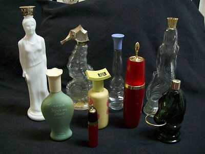 Lot of 9 1950's Collectible Avon Bottles in Very Good Condition