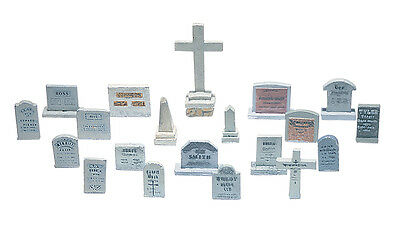 Model Train HO ** 20 Grave Stones ** Woodland Scenics D201