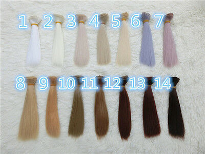 15cm Doll Straight Synthetic Hair Wig for 1/3 1/4 1/6 Barbie BJD SD DZ LUTS