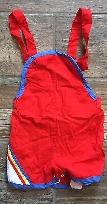 Vintage Infant Toddler Boys 18M 18 Month Retro 80s Overalls Childwise Brand