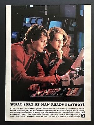 1982 Vintage Print Ad WHAT SORT OF MAN READS PLAYBOY Calls The Shots
