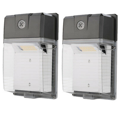 2pcs 30W 3300lm LED Wall Pack Light, Dusk to Dawn, 100-277V 5000K Daylight IP65