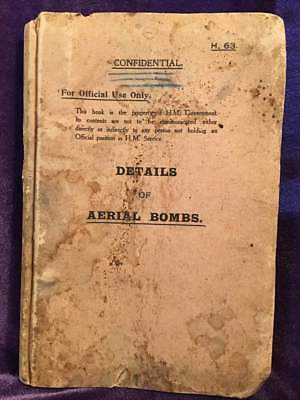 Feb., 1918 Air Ministry (UK) Confidential Leaflets with DETAILS OF AERIAL BOMBS