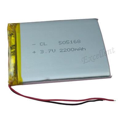 3.7V 2200 mAh Rechargeable Polymer Li battery Lipo For GPS ipod Tablet PC 505168