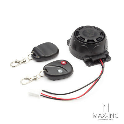 Quick Fit Uni Motorcycle Alarm System / Remotes - Cafe Racer Harley Custom Proj