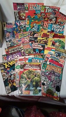 HUGE COMIC BOOK LOT 27 MARVEL INDY X-MEN Toxic PSI Force Battlestar Thor GI Joe