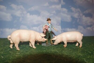 Schleich Farmer with Adult Pigs and Piglet from the Farm Animal Series