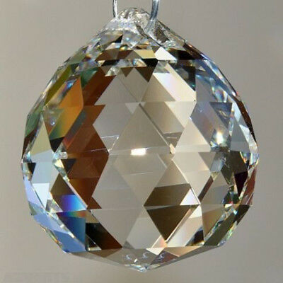 Cool 2Pcs Clear Crystal Feng Shui Lamp Ball Prism Rainbow Sun Wedding Decor 20mm
