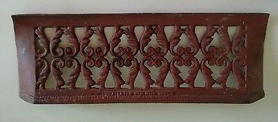 "Vintage Wrought Iron Wall or Garden Decor 18"" x 7"""