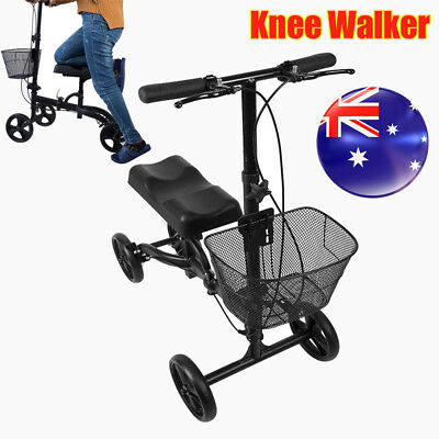 Walker Scooter Mechanism Knee Foldable Steerable Health Port AU Local Stock