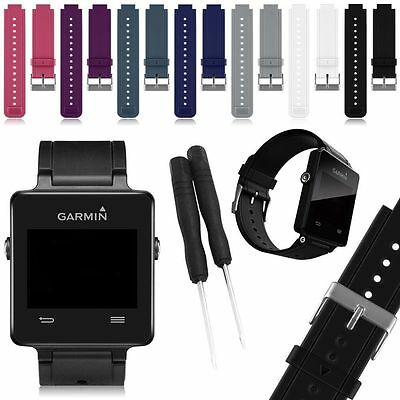 UK Silicone Fitness Replacement Band Wrist Strap For Garmin Vivoactive With Tool