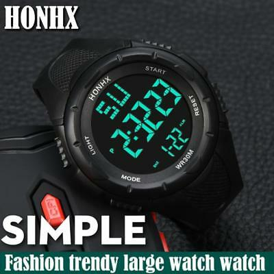 Fashion Men's LED Waterproof Digital Quartz Military Luxury Sport Date Watches