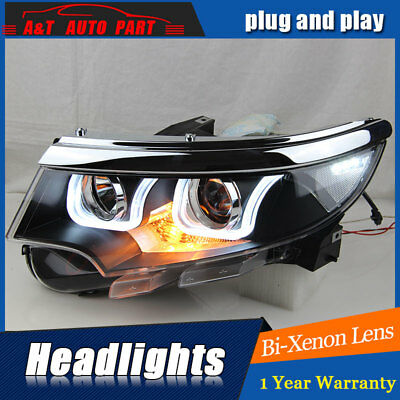 Headlights Assembly For Ford Edge   Bi Xenon Lens Projector Led Drl