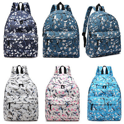 Boys Girls Retro Backpack Rucksack Pencil School College Travel Laptop Work Bag