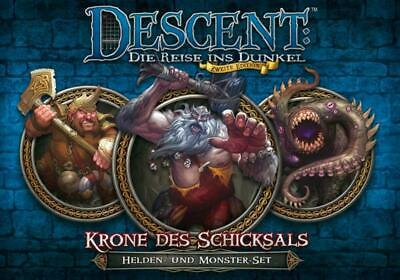 Descent 2. Edition Krone des Schicksals: Helden- und Monster-Set (DE)