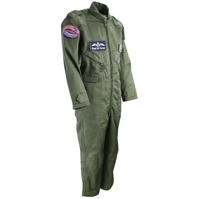 (7 - 8 Years, Olive Green) - Kombat UK Children's Flight Suit. Delivery is Free