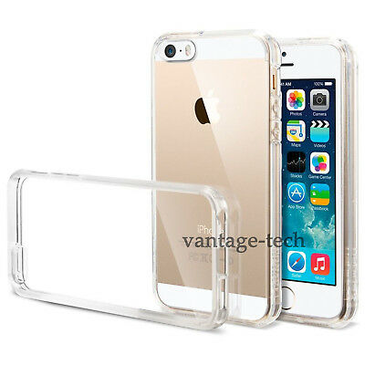For Apple iPhone SE 5S 5 TPU Ultra Slim Gel Jelly Skin Crystal Clear Case Cover