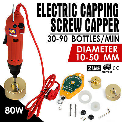 Handheld Electric Bottle Capping Machine Screw Capper Sealing Machine 110V