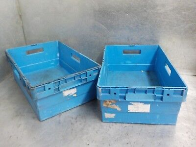 1 X HEAVY Duty Plastic Storage Boxes Crates Containers Stackable