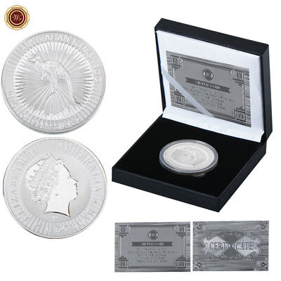 WR 2016 Australia Kangaroo $1 SILVER Coin In Collection Box Birthday Gifts F Men