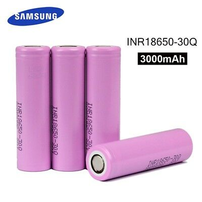 4 x Genuine Pink Samsung INR 18650 30Q 30A Battery 3000mAh 3.7V Flat Top Vape
