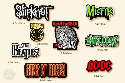 Toppa Patch Rock Band Acdc The Beatles Nirvana Iron Maiden Termoadesiva Ricamata