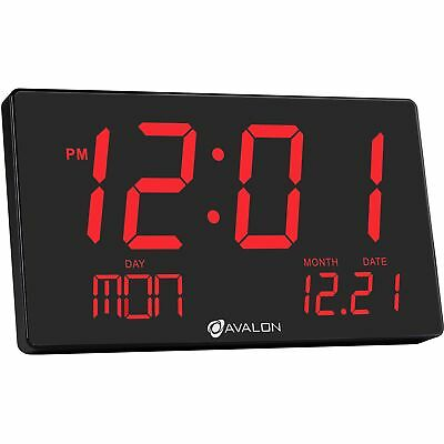 Avalon Oversized LED Digital Clock- Extra Large Display, Easy To Read 3 inch