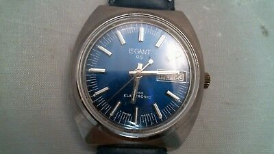 LeGant QS Swiss Made Base Metal Electronic 2415W Automatic Watch Day Date