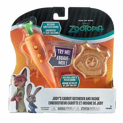 Zootopia - Judy's Carrot Recorder And Badge Disney Set **NEW**