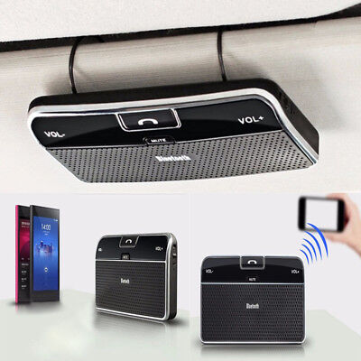 Wireless Bluetooth Handsfree Device Car Kit Stereo Speaker Phone Sun Visor Clip