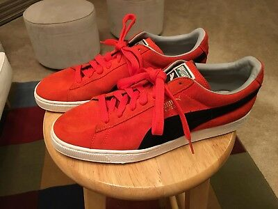 4a68b05f429 Puma Suede US11 Red Black Men s Athletic Sneakers