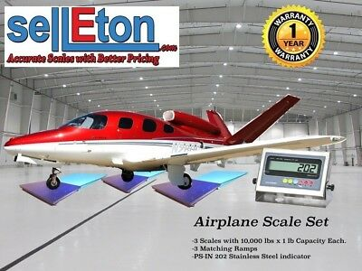 NEW SellEton Airplane Scale kit with matching ramps 15,000 capacity / Portable!