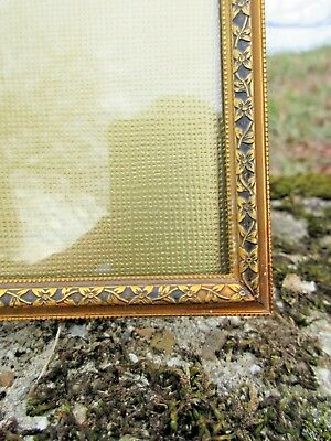 Beautifully Designed Vintage Solid Brass Art Nouveau 8 X 10 Picture Frame