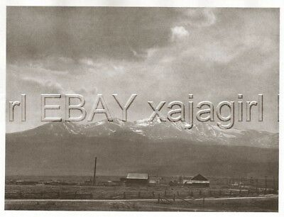 Utah Mount Timpanogos Wasatch Ranch 1920s Antique Photogravure Print