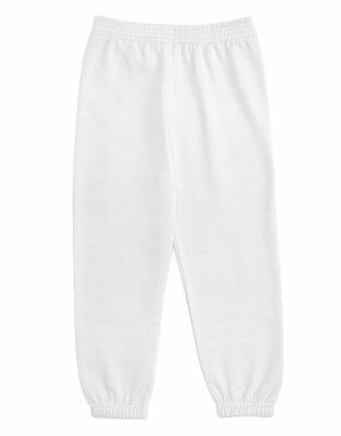 Leveret Soft Cozy White Boys Girls Sweatpants (Size 2-14 Years)