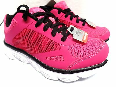 Danskin Now Girl's Pink W/Black Trim Lightweight Running Athletic Shoes NWT