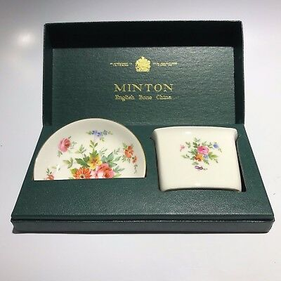 Minton English Bone China Box Set Dish & Tray - Free Shipping USA