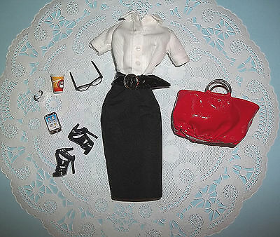 Awesome Tim Gunn Barbie Naughty Teacher Librarian Secretary Outfit Model Muse!!