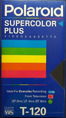 Polaroid T-120 VHS Videocassette Box of 9 NEW [FREE SHIPPING]
