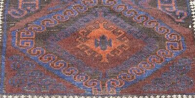 "ANTIQUE BALOUCH BLUE TRIBAL HAND-KNOTTED  WOOL ORIENTAL RUG  3'5"" x 5'10"""