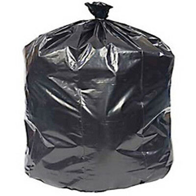 CWC Trash Can Liners - 55 Gal, 1.5 mil, Black (Pack of 100 liners)