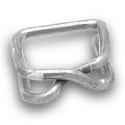 "Galvinized Metal Buckles for Plastic Strapping - 1"" (Pack of 500 buckles)"