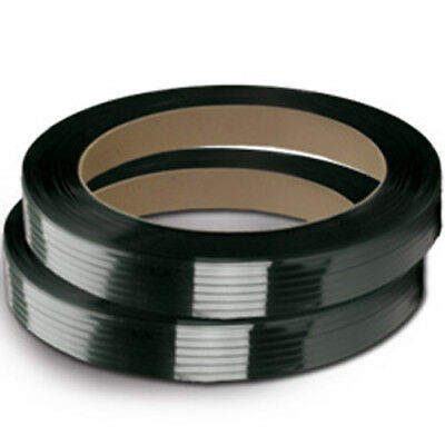 "CWC Polyester Strapping - 1/2"" x .025"" x 2900', Black, 16"" x 3"" Core (2 coils)"