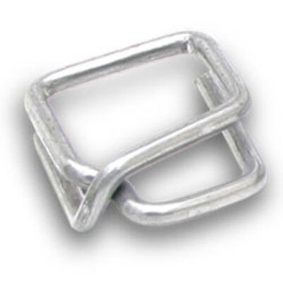 "Heavy-Duty Metal Buckles for Plastic Strapping - 1/2"" (Pack of 1000 buckles)"