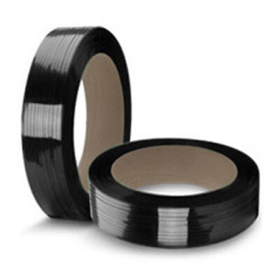 "CWC Polyester Strapping - 5/8"" x .035"" x 4000', Black, 16"" x 6"" Core"