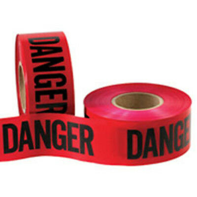 "CWC 'Danger' Caution Tape - 1.5 mil, 3"" x 1000'', Danger Tape (Pack of 10 rolls)"