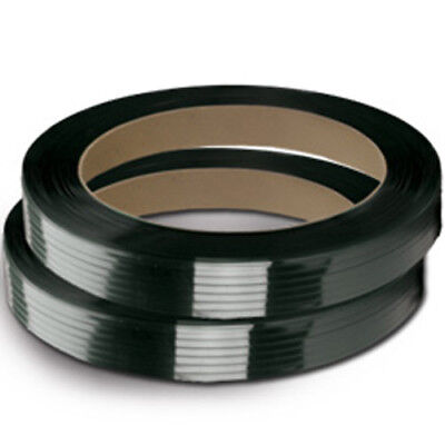 """CWC Polyester Strapping - 5/8"""" x .025"""" x 2200', Black, 16"""" x 3"""" Core (2 coils)"""