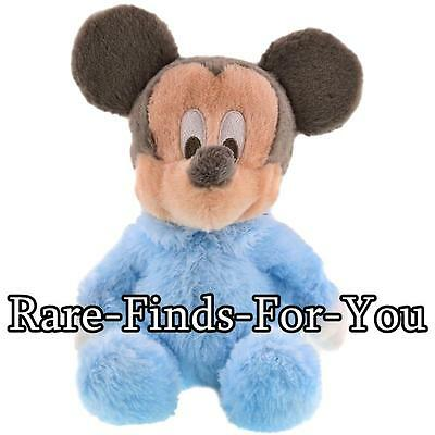 """Disney Parks Baby Mickey Mouse Premium Super-Soft Rattle Plush Doll Toy 9"""" (NEW)"""