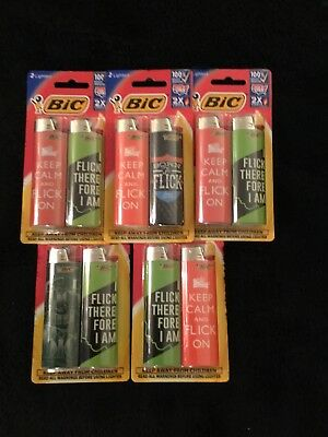 (5) 2 Pack Bic Lighters Special Edition Flick Your Bic