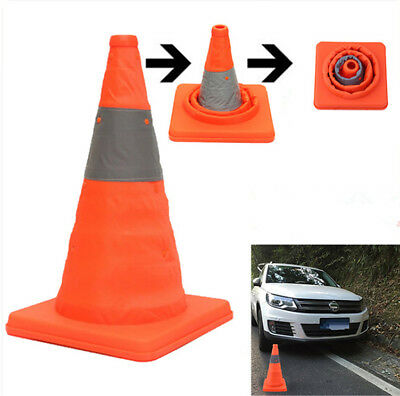 "Folding 18"" Collapsible Safety Cone Car Traffic Emergency Reflective Drive Cone"